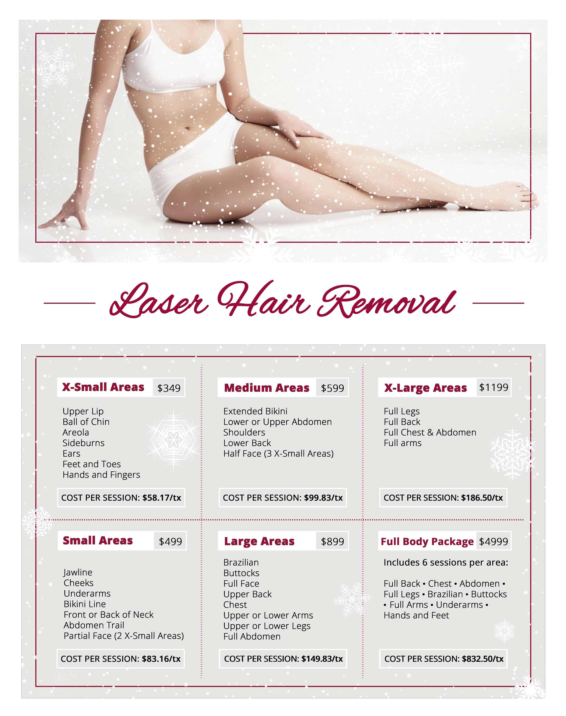 Laser Hair Removal Winter Promo Flyer